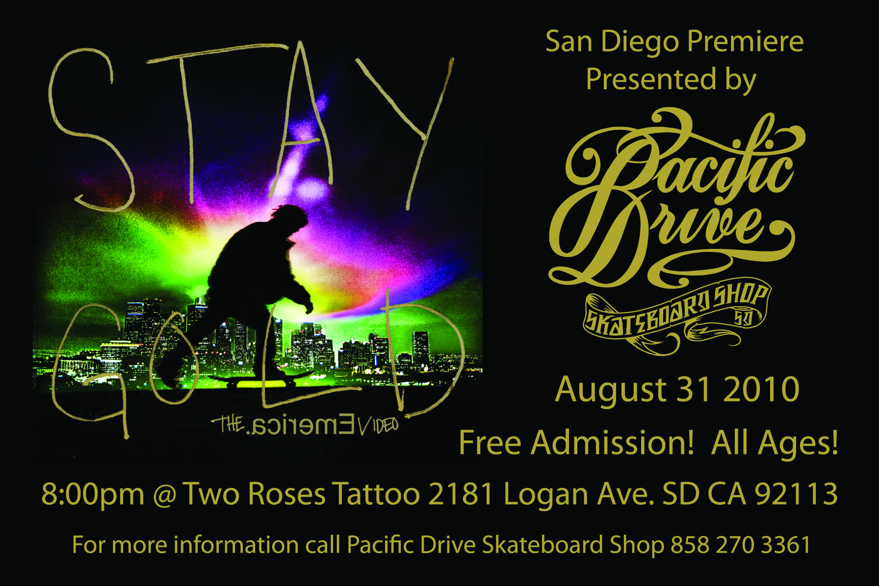 Emerica Stay Gold Premiere Two Roses Aug 31st Sinister Urge